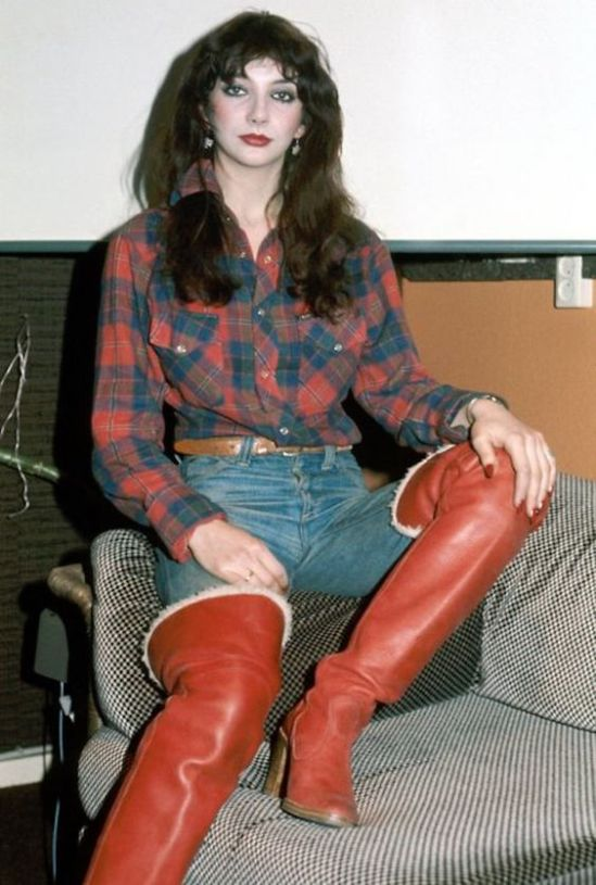 Kate Bush in her Red Boots