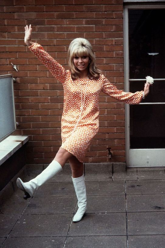 Nancy Sinatra in her White Boots